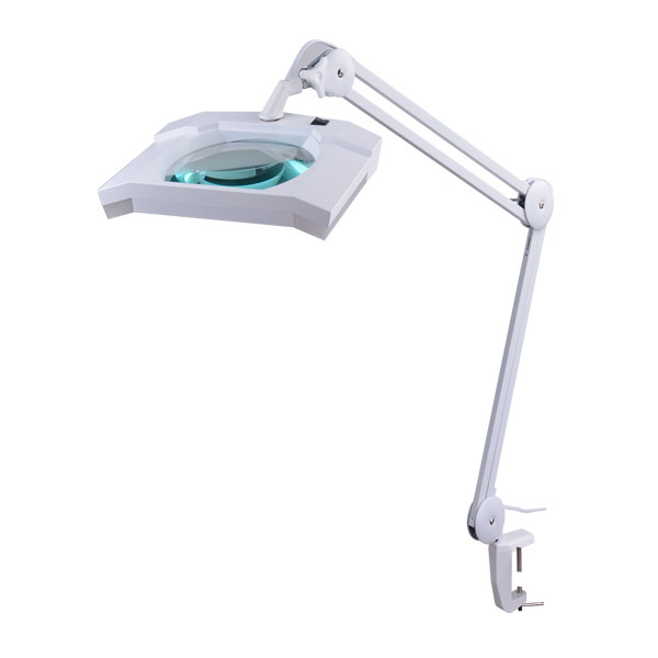 Industrial Magnifying Lamp 12w+7.5x 6″ square 4x lens KML9002L