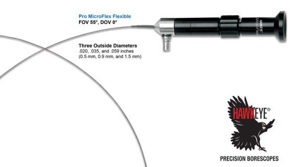 Hawkeye® Pro MicroFlex Flexible Borescopes (.020 – .059 mm dia)
